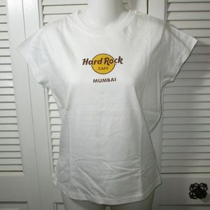NWOT Hard Rock Cafe Mumbai White T-Shirt L